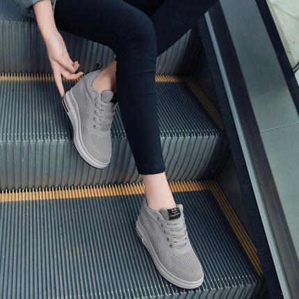 Giày lưới  Giày nữ tăng vào mùa xuân năm 2020, phiên bản mới của Hàn Quốc của giày thể thao hoang dã