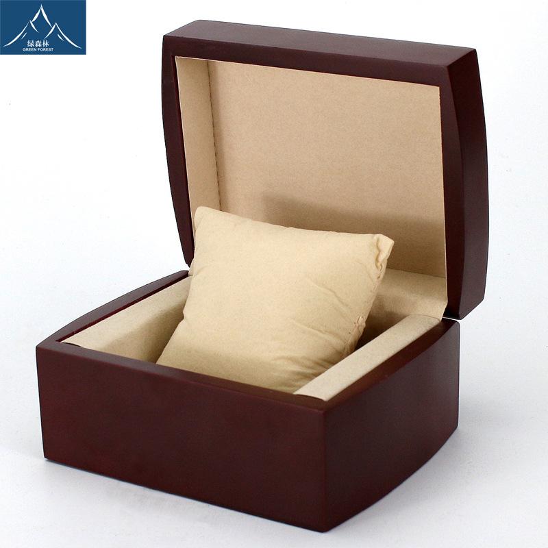 Đóng gói Bán buôn Hộp trang sức Đóng gói Hộp trang sức cao cấp Flannel Hộp tùy chỉnh Lật bằng gỗ Xem