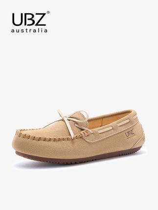 Giày mọi Gommino Giày nữ UBZ 2020 Giày mới Peas Giày nữ mùa xuân bằng phẳng da Phụ nữ mang thai hoan