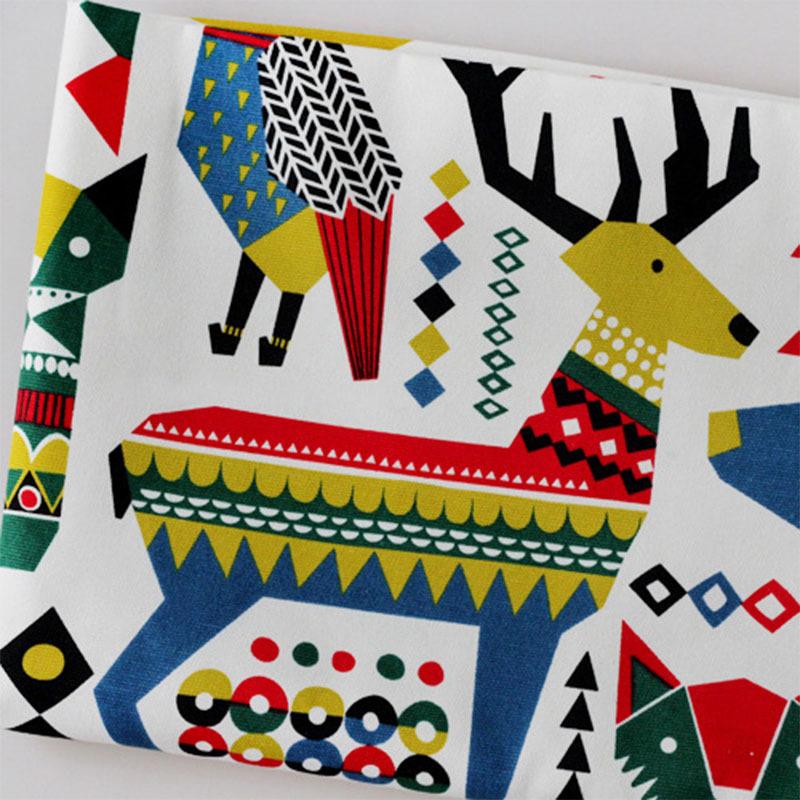 Vải Cotton pha Phiên bản Nhật Bản và Hàn Quốc của trẻ em hoạt hình hình học cotton và vải pha trộn v