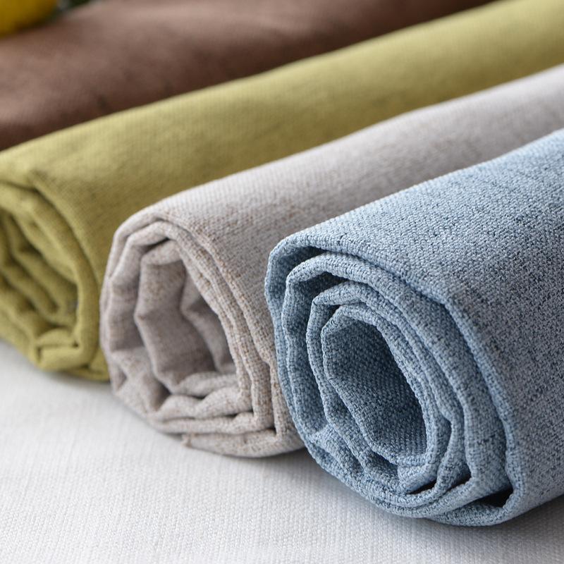 HEMEI Vải Cotton pha Vải lanh dày cotton chống trượt sofa bọc vải giả vải lanh gối đệm kỹ thuật vải