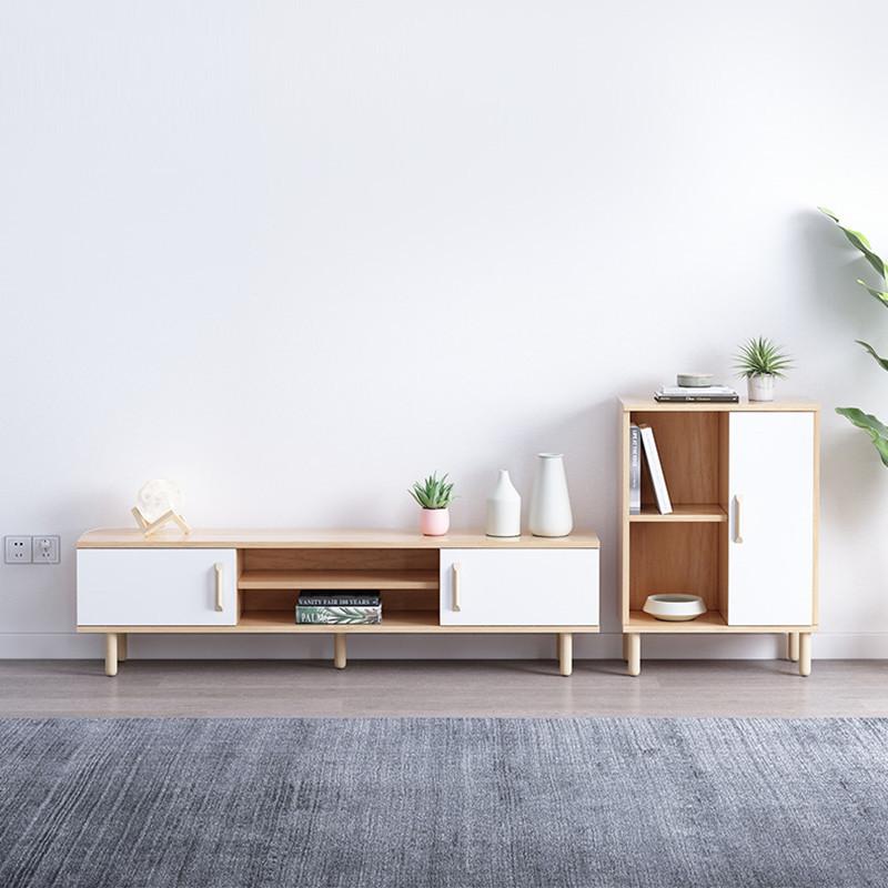 Nội thất Tủ tivi Bắc Âu đơn giản phòng khách hiện đại phòng ngủ kết hợp tủ đồ nội thất căn hộ nhỏ đơ