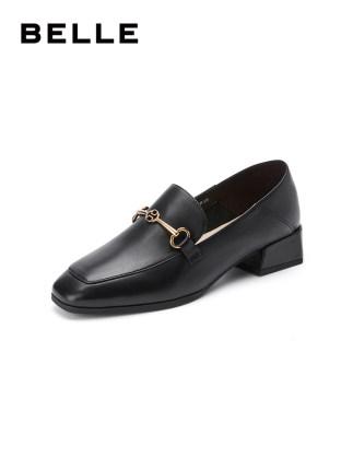 Giày Loafer / giày lười Giày nữ Ju Belle British Lok Fu 2020 trung tâm mua sắm mùa xuân mới với cùng
