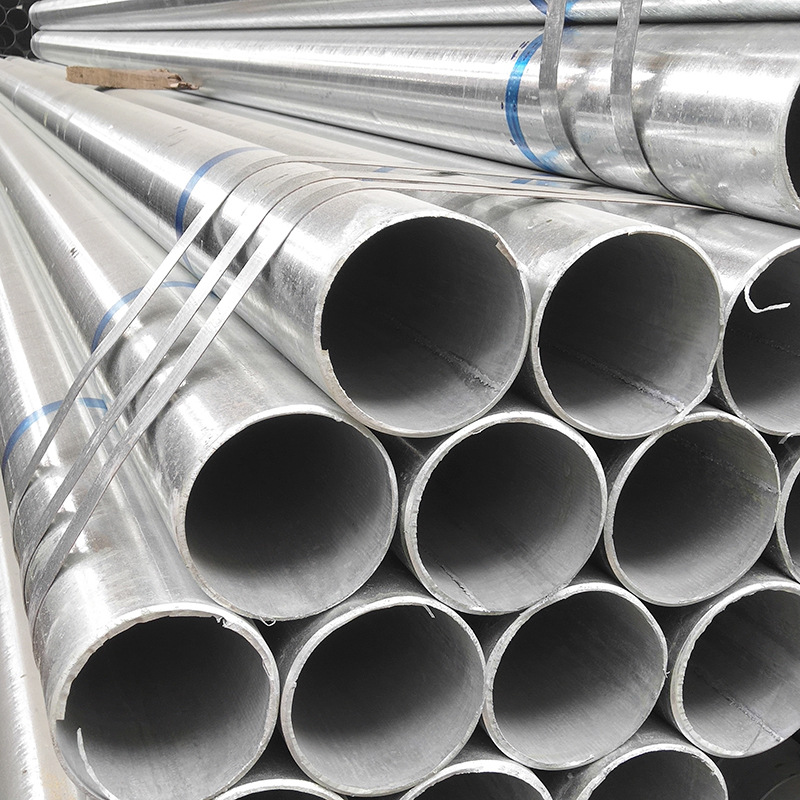 Ống thép Nhà máy ống mạ kẽm trực tiếp bán ống thép mạ kẽm nóng sưởi ấm ống mạ kẽm bán buôn ống tròn