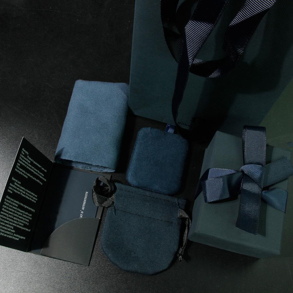 JINGZHI Đóng gói JZ.APM đóng gói hộp trang sức túi tote túi flannel lau vải bạc ban đầu hộp quà bảy