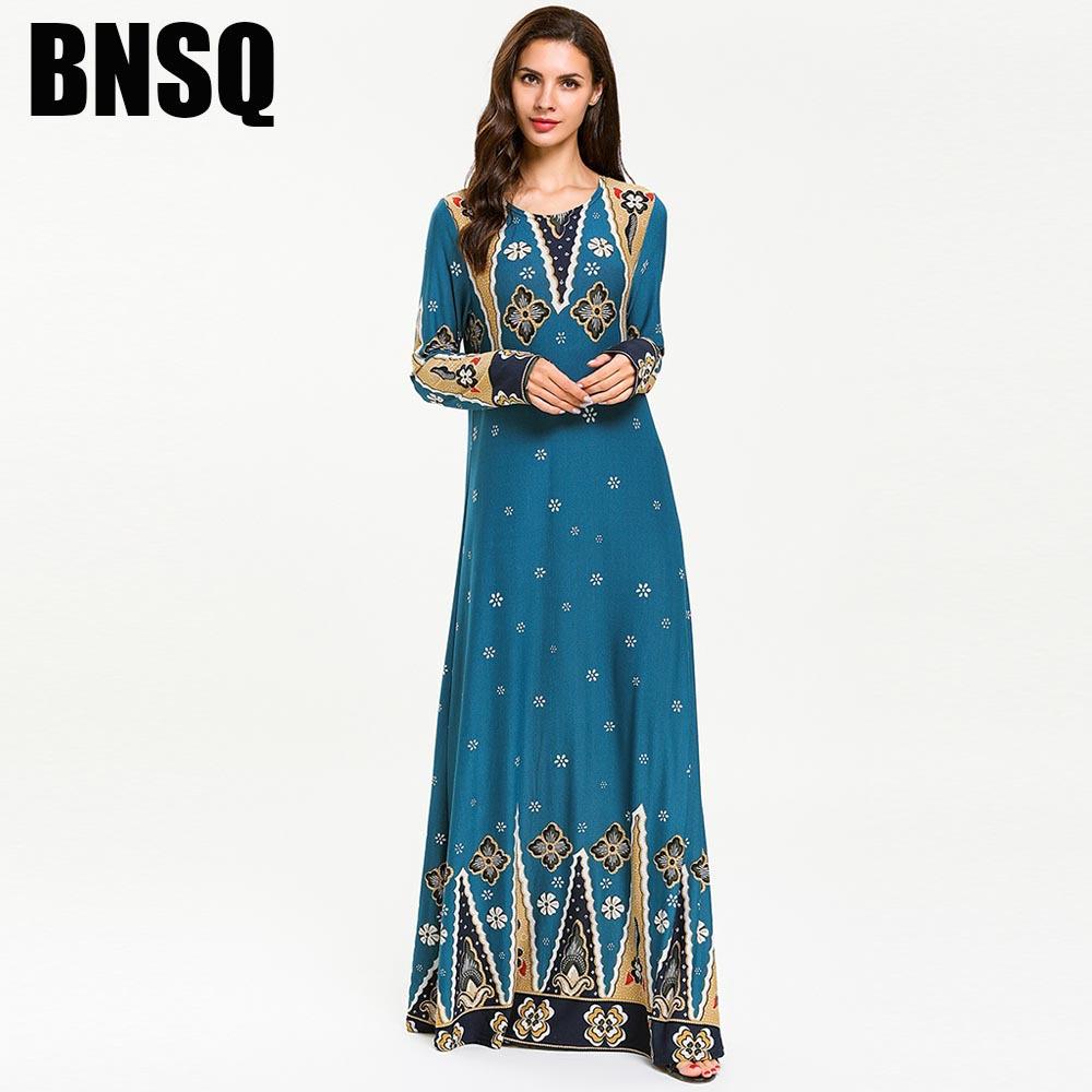 Thời trang nữ 7705 Phụ nữ Ả Rập Hồi giáo Thời trang Dệt kim In