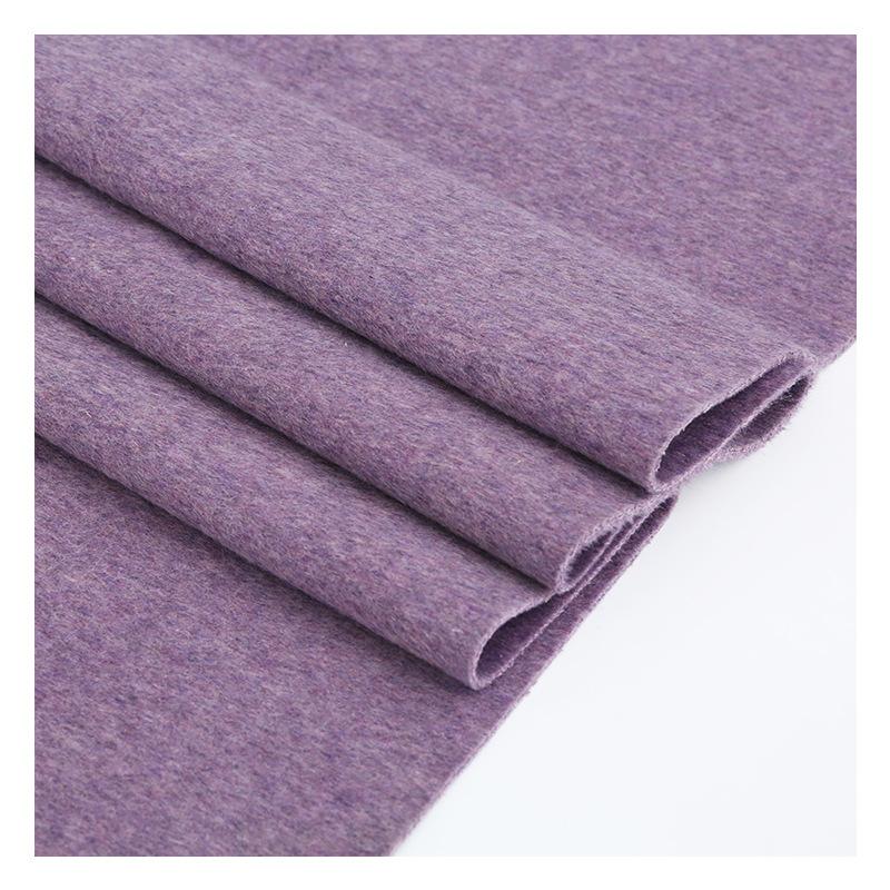 Vải dệt may Albaka vải trơn mới hai mặt dệt vải len thường len cashmere vải sợi hóa học tùy chỉnh