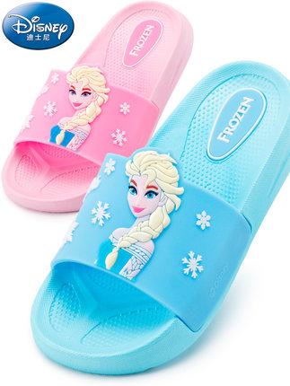 dép trẻ em  Cô gái dép và dép công chúa trẻ em giày nhà dễ thương Disney mùa hè mới trong nhà phim h