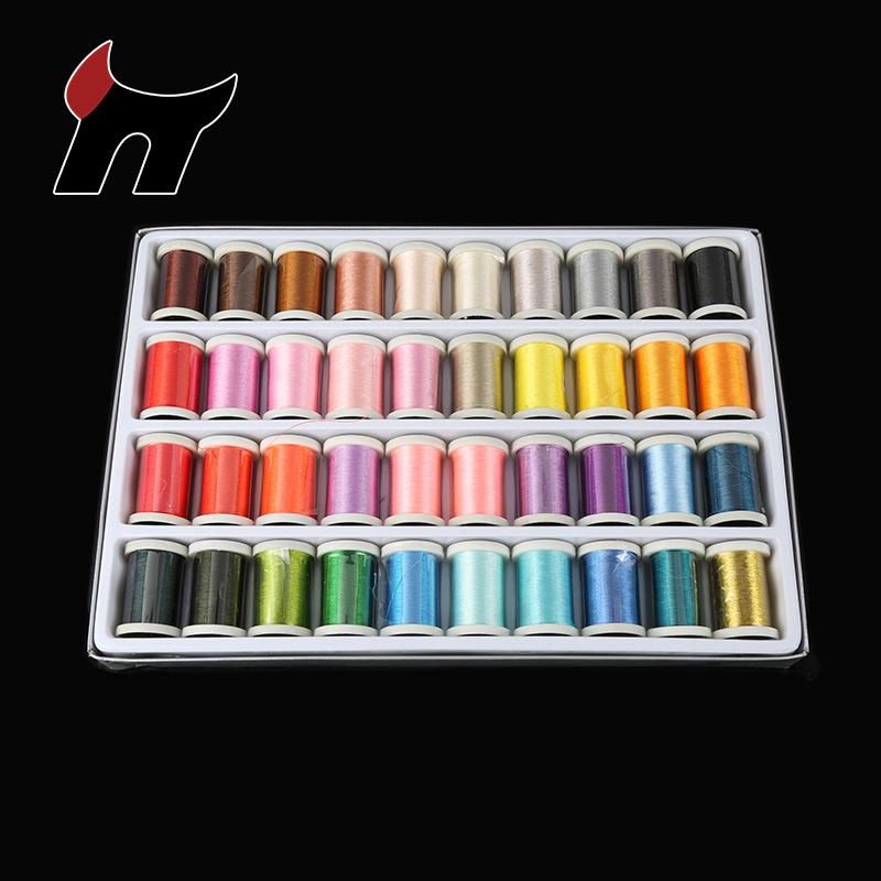 BUYI Chỉ thêu 40 màu không thêu chủ đề thêu chắp vá DIY thread 135D / 2 máy thêu máy thêu chỉ 280M