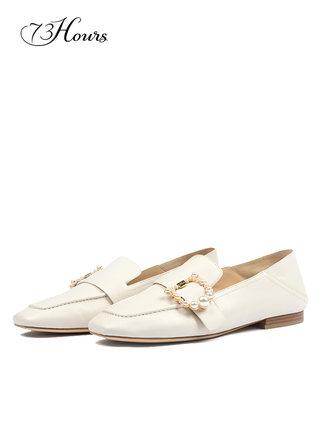 73 Giày Loafer / giày lười 73 giờ Nina 2019 một đôi giày đế xuồng nữ kim cương khóa thời trang giày