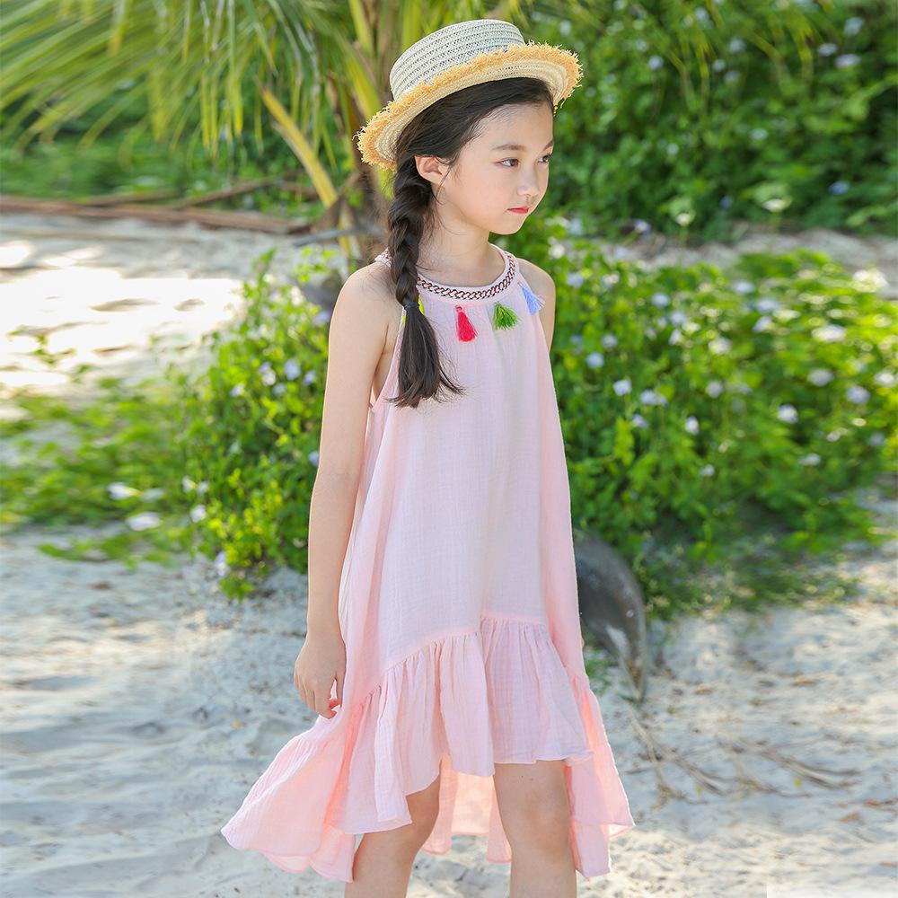 BAOBAOWO Váy 2020 công chúa váy mùa hè thương mại nước ngoài cô gái váy cotton trẻ em kỳ nghỉ gió gi