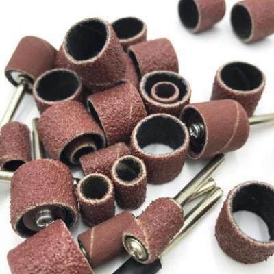 WEISI  Vật liệu mài mòn  Vòng giấy nhám nhỏ bằng nhựa ngọc bích mài mòn giấy nhám dày cuộn ô liu cát