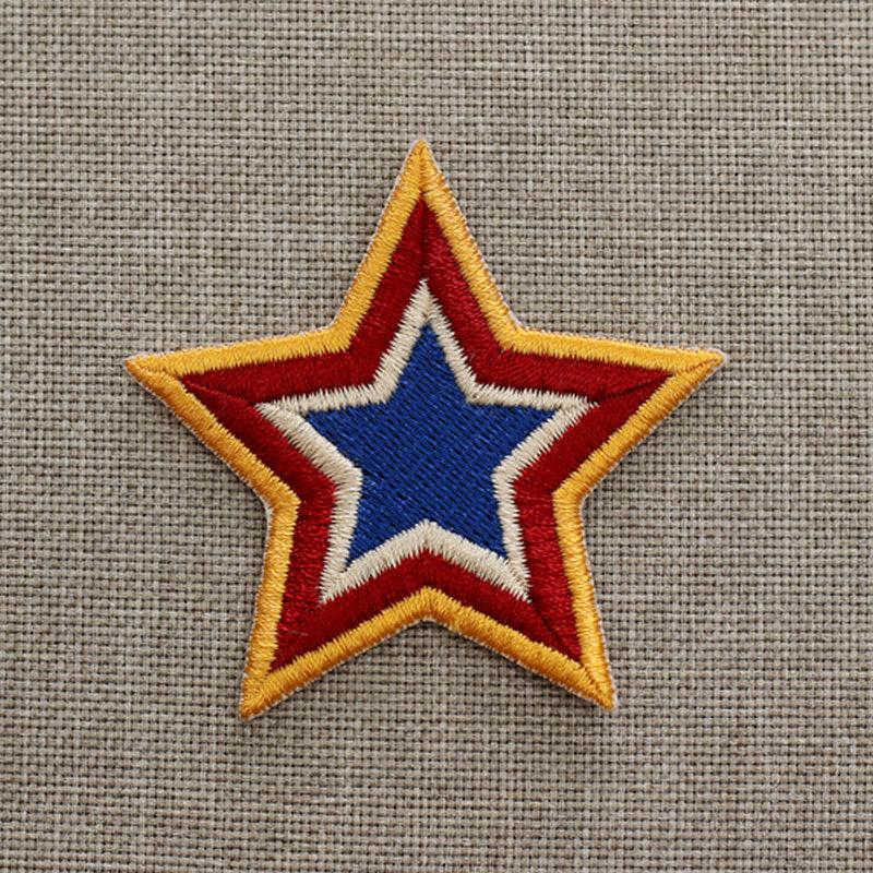 phù hiệu vải Thêu vải nhà sản xuất cung cấp thêu phù hiệu tùy chỉnh tự làm quần áo vá dán phim hoạt