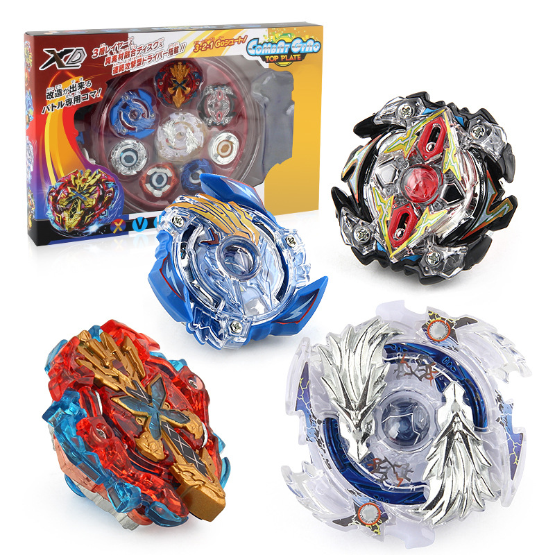 Chengke toys Bông vụ XD168-1 Burst Gyro Toy Burst Battle Gyro Kéo Tay cầm Battle Battle Arena Set