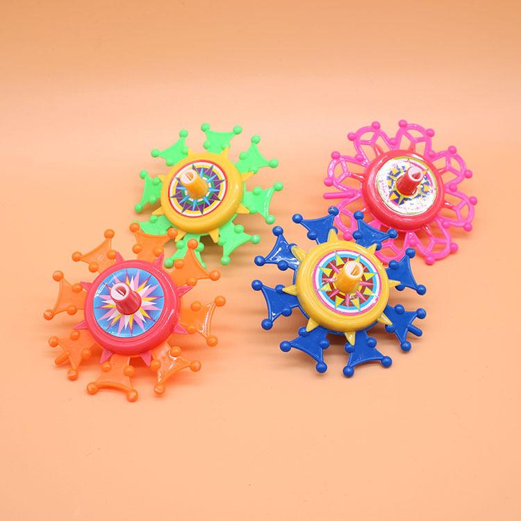 Bông vụ Quay nhỏ đồ chơi bằng nhựa quay tay vui nhộn hoa hàng đầu xoay truyền thống hoài cổ đầy màu