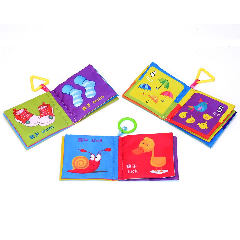 ZHIHUIYU Đồ giảng dạy trẻ sơ sinh Cuốn sách bé vải câu đố 0-1-2-3 tuổi Bộ sách vải bé tập giáo dục s