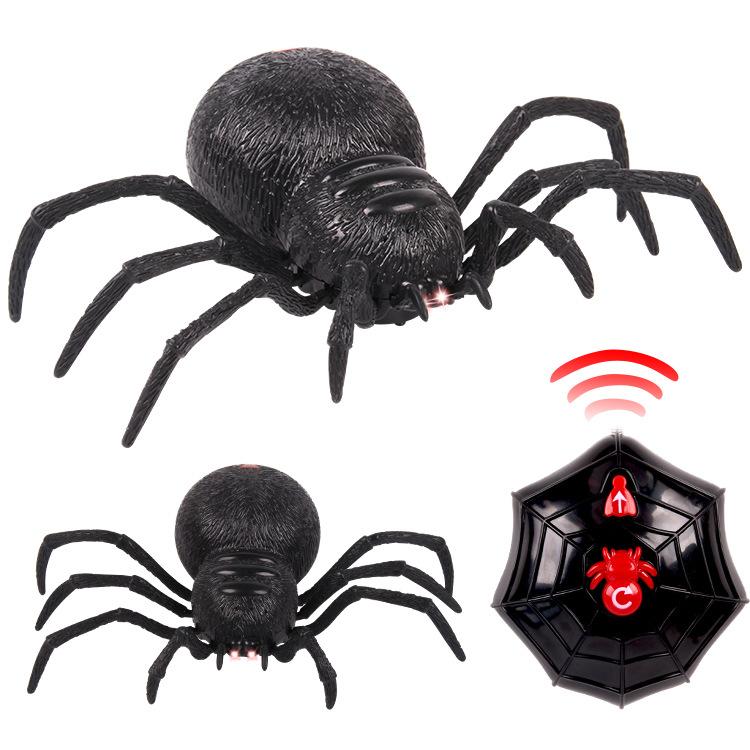 YITONG Đồ chơi khăm Đồ chơi điều khiển từ xa 2 điều khiển từ xa mô phỏng cao mô hình nhện lớn đồ chơ