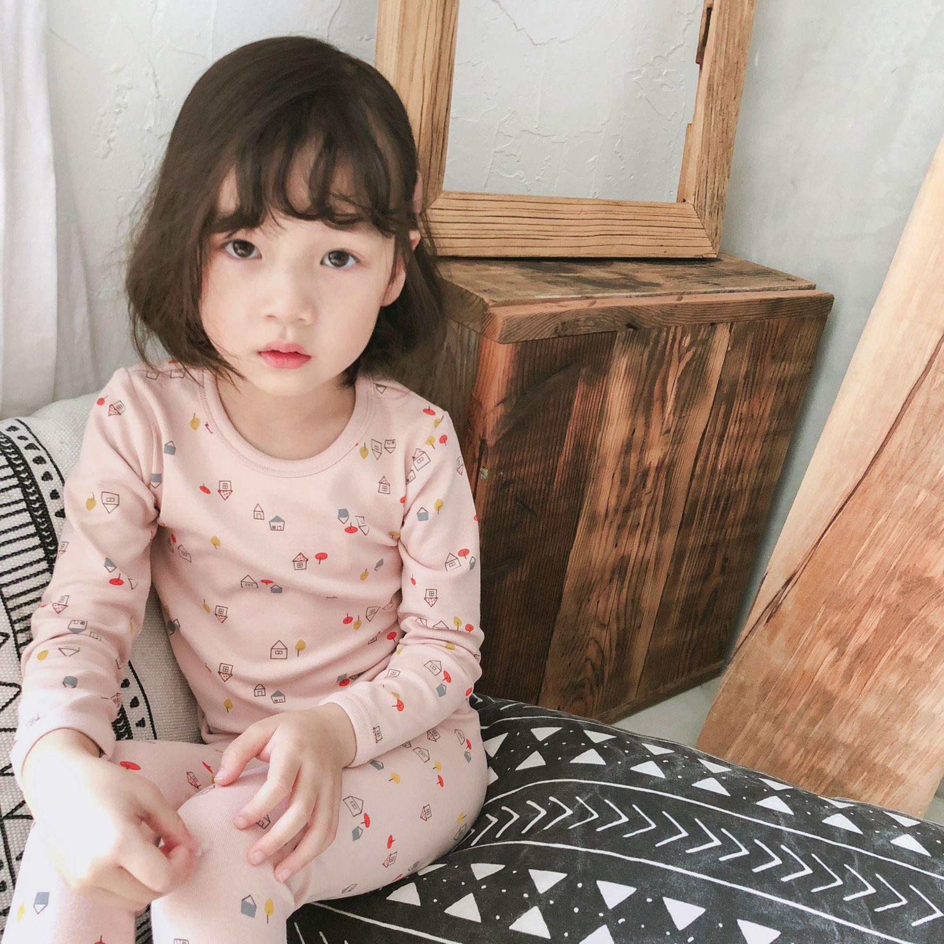 Đồ ngủ trẻ em 19 mùa thu và mùa đông mới quần áo trẻ em phục vụ nhà của trẻ em phù hợp với phim hoạt