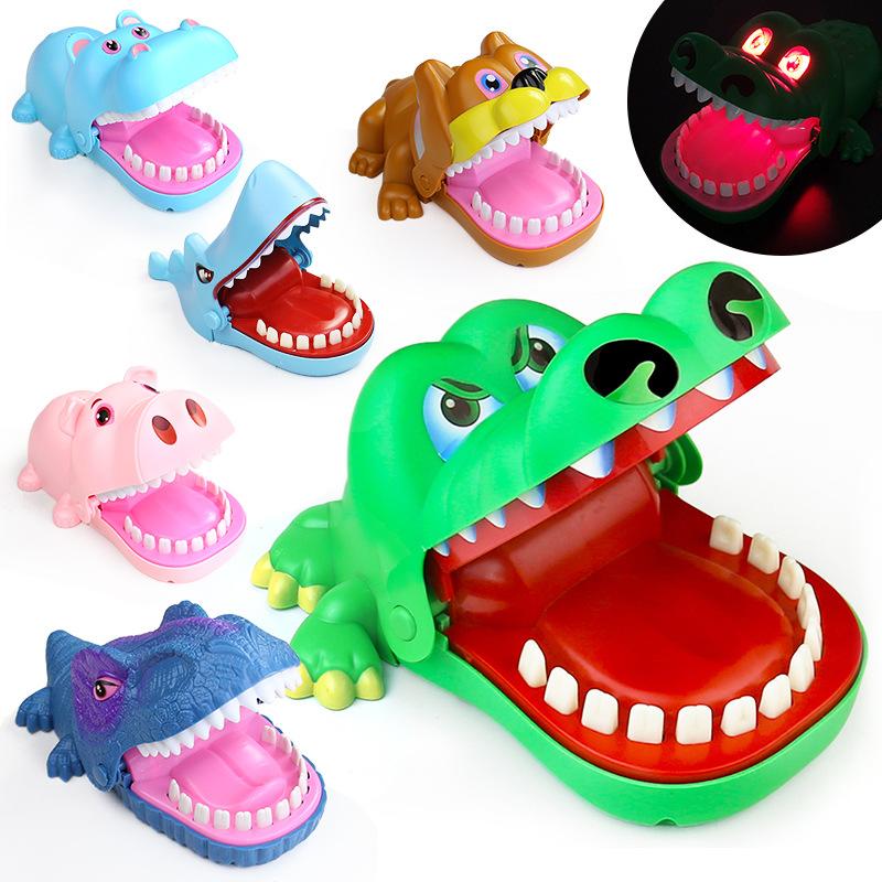ShuChengToys Đồ chơi khăm Cá sấu lớn cắn ngón tay đồ chơi chó dữ cắn tay đồ chơi cá mập nhổ răng cha