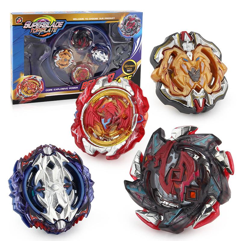 Chengke toys Bông vụ XD168-10 Burst Gyro B113 115 117 118 Gyro Set Hợp kim kết hợp 4 trong 1
