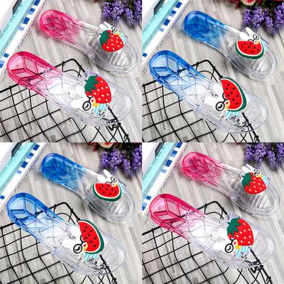 dép trẻ em Dép cho phụ huynh-trẻ em Cô gái mùa hè thời trang mang dép xỏ ngón mềm mại trong suốt