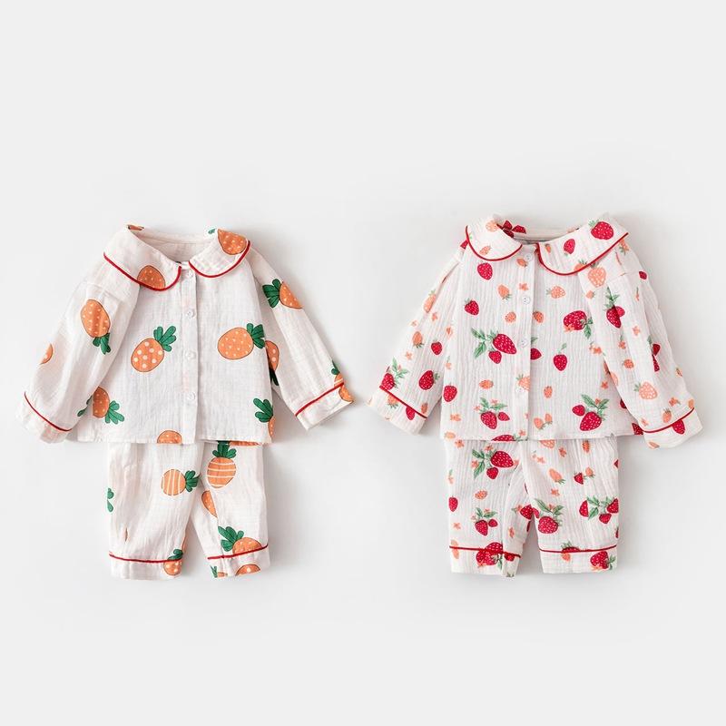 AMILA Đồ ngủ trẻ em Đồ ngủ cho bé Quần áo mùa xuân 2020 cho trẻ em Quần áo dài tay điều hòa không kh