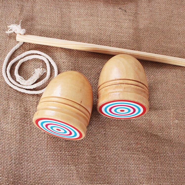 JUDIAN Bông vụ Log màu gỗ nhỏ vừa và con quay hồi chuyển con quay hồi chuyển / đồ chơi hoài cổ màu c