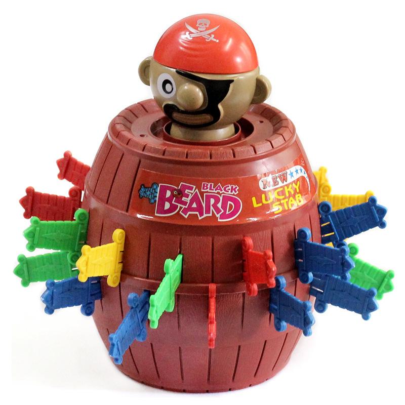 Đồ chơi khăm Cướp biển xô kiếm lớn trò chơi chèn đồ chơi Tricky xô xô cướp biển xô gia đình cha mẹ-c