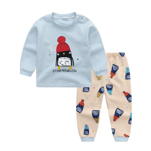 Sunsirbabe Đồ ngủ trẻ em Xin Sheng Beibi mô hình vụ nổ cotton trẻ em phù hợp với đồ lót bé trai và b