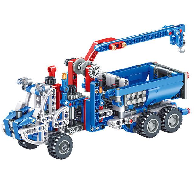 KAZI Thị trường đồ chơi Kai Chi tương thích khối xây dựng hạt nhỏ Lego lắp ráp thiết bị máy móc kỹ t