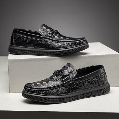 Giày mọi Gommino Giày cá sấu đậu Hà Lan giày nam mùa xuân mới Giày da phiên bản Hàn Quốc của lớp da