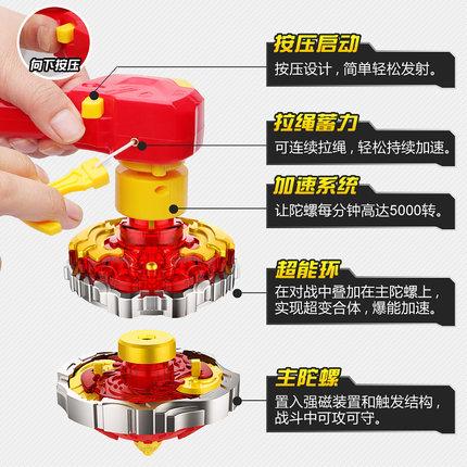 Bông vụ  Sambo Super Change War Tuo Children Gyro Toy New Pull Rotate Combat King Shengyan Red Drago