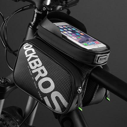 Rock Thị trường phụ kiện di động  anh em túi xe đạp màn hình cảm ứng túi yên xe đạp leo núi phía trư