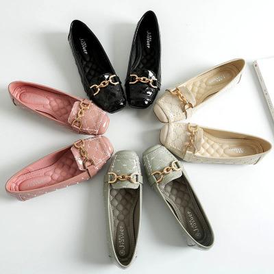 JIASUER Giày mọi Gommino Giày đế mềm đế mềm Giày đơn nữ 2020 Giày nữ mới mùa xuân Giày mẹ Hàn Quốc G
