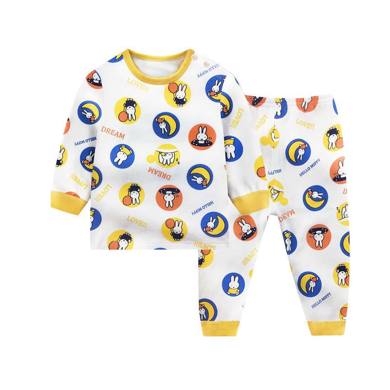 YNEM Đồ ngủ trẻ em Đồ lót trẻ em vừa và lớn mùa thu cotton phù hợp với nữ dịch vụ nhà cho bé quần áo