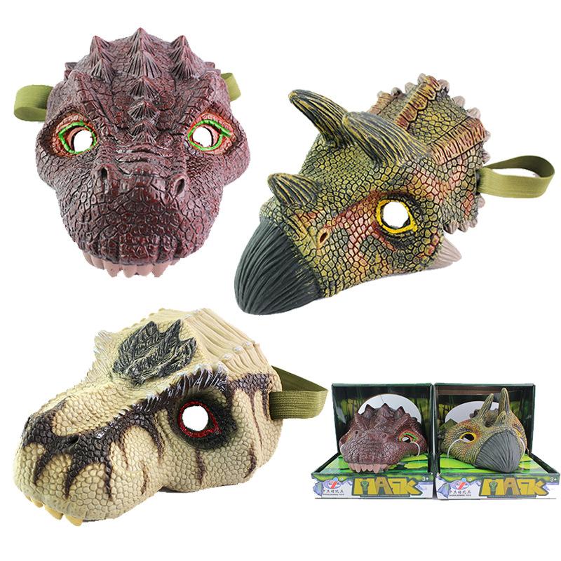 BEIERYOU Đồ chơi khăm Mô hình vụ nổ xuyên biên giới mô phỏng mặt nạ khủng long Halloween đồ chơi lừa