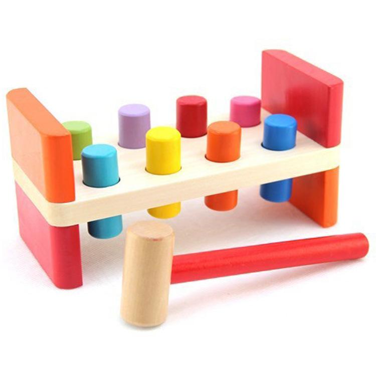 Đồ giảng dạy trẻ sơ sinh Đồ chơi xếp chồng xuyên màu xuyên biên giới cho bé câu đố giáo dục sớm mẫu
