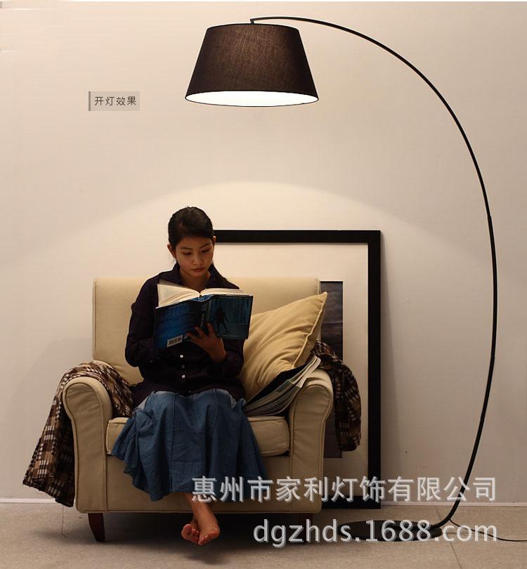 Đèn hình <font color='red'>cần câu cá</font> IKEA sáng tạo hiện đại kiểu Bắc Âu dùng cho phòng khách, phòng đọc sách, phòng n