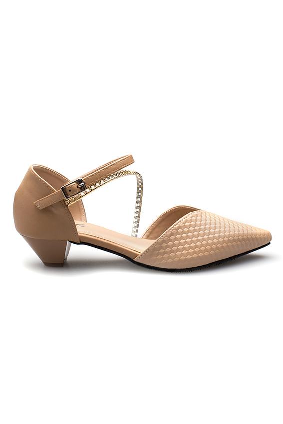 Giày sandal mũi nhọn đế thấp 3cm NF35-120