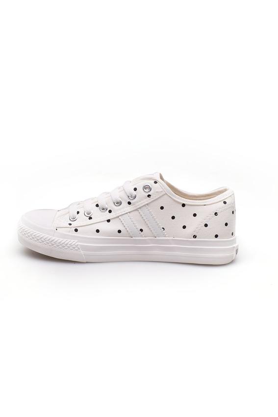 Giày thể thao Converse trắng chấm bi dễ thương .