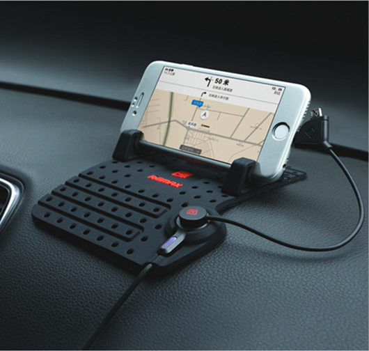 Thị trường đồ điện tử định vị   Vehicle mounted mobile phone support in the control of the instrume
