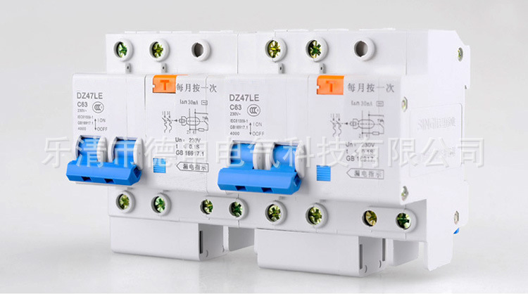 Micro-off small leakage circuit breakers 2P leakage protection switch DZ47LE small air circuit break