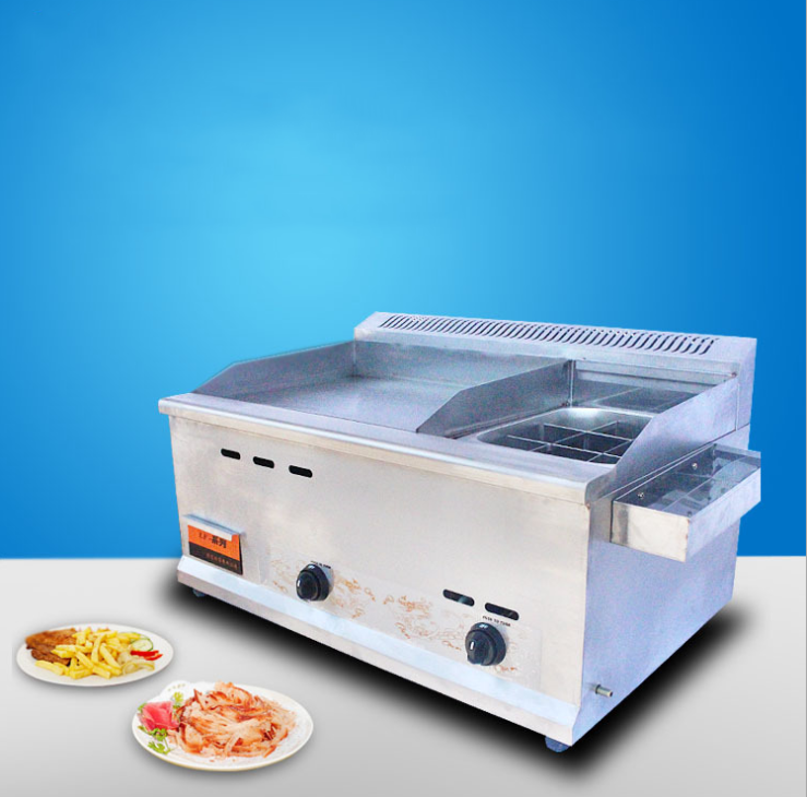 Commercial gas fryer fryer machine teppanyaki grasping cake machine equipment fryer