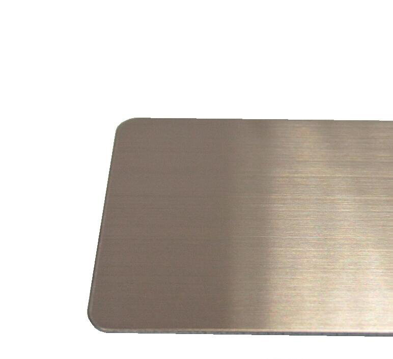 Vật liệu kim loại High-end color matte stainless steel high-end color brushed stainless steel plate