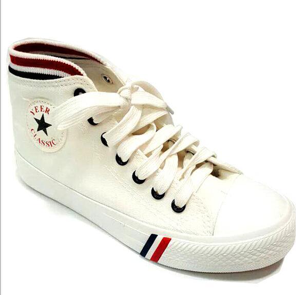 Giày thể thao vải converse loại cao cổ (trắng)