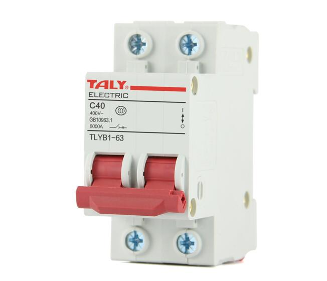 Factory direct 2P50A63A air switch home DZ47-63 small circuit breaker short circuit protection