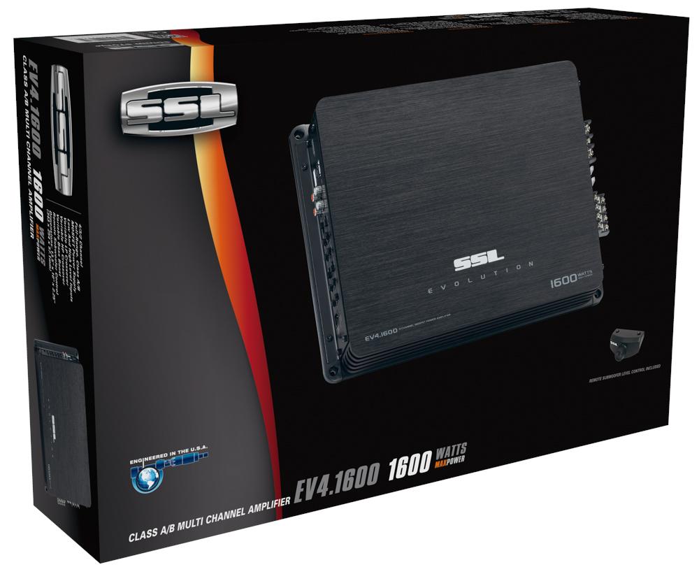 Amply toàn dải 4 kênh class A/B 1600W SoundStormLab EV4.1600 (có kèm remote điều khiển Subwoofer)