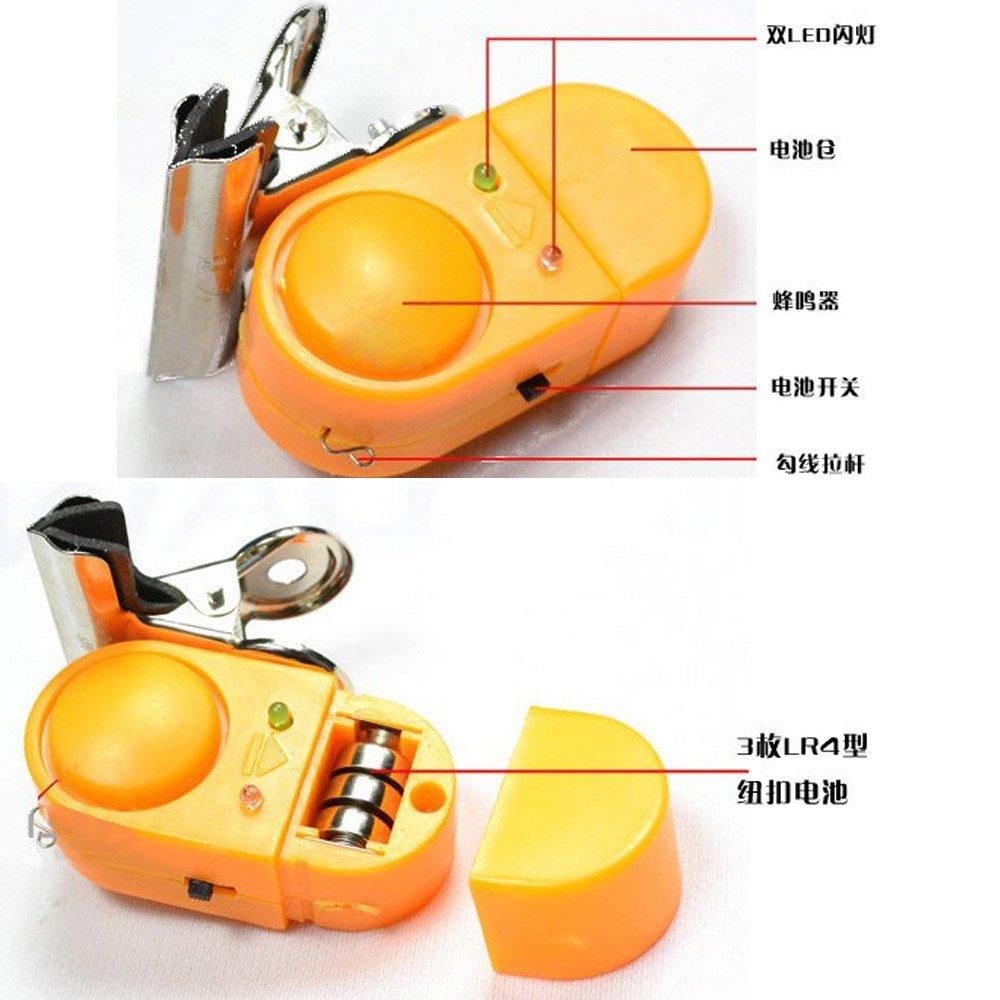 SAINCE đôi đèn báo động báo động không bị thương clip Kim loại cần thiết <font color='red'>cần câu cá</font>.