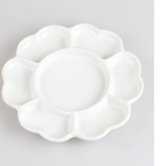 Đĩa gốm sứ hoa mận màu sơn màu sơn vẽ tranh Trung Quốc. Đồ gốm màu nghệ thuật. Đặc biệt tấm tranh Tr