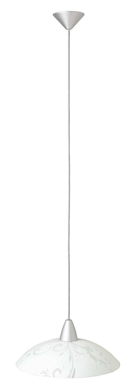 Brilliant Đèn treo troja tuyệt vời, đèn chùm đơn đèn trần cho 1 X E 27 * 60 W bạc / trắng .